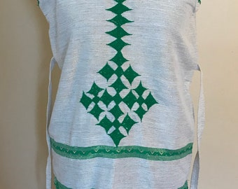 Green Embroidered Ethiopian Dress