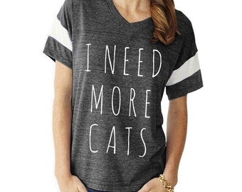 I Need More CATS Slouchy Gym Tee