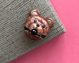 bdsm bear toy brooch