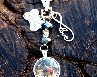 Photo Memorial Keychain, Memorial Dog Keychain Gifts For Her In Memory of My Dog Keychain Dog Memorial Gift Personalized With Your Dog's Pic