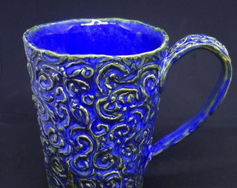 Blue Textured Mug
