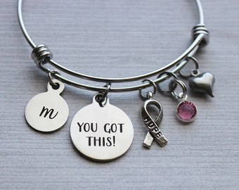 Breast Cancer You Got This Bracelet, Breast Cancer Inspirational Jewelry, Breast Cancer Inspirational Gifts, Beating Breast Cancer Gifts
