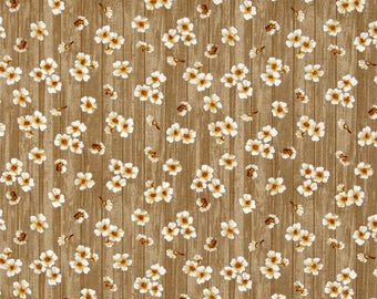 beige patchwork fabric with PALOMA BIRDS flowers