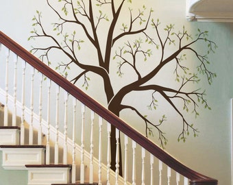 Giant Family photo tree for staircase wall hallway wall decal mural wall sticker for home
