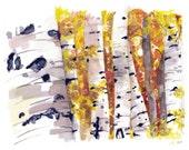 Birch Tree Painting - Pri...