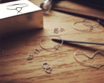 Sweet Heart Ring • Dainty Love Sterling Silver Heart Ring. Promise Ring. Midi Ring. Stack ring . Tiny Heart Ring• Made by hand