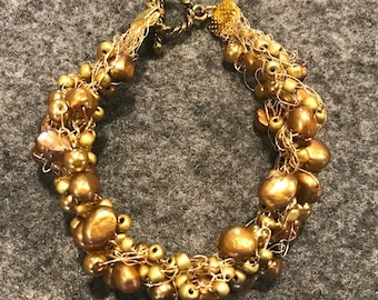 Golden Bead Bangle