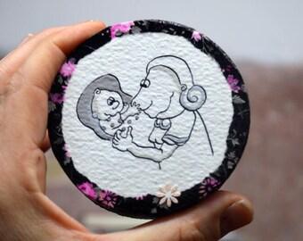 Kinderzimmer dekoration*Wally macht was Kinder machen*Wanddeko*Gemälde Kind*Wohnimmer Dekoration