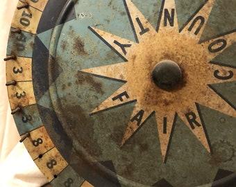 Vintage-County Fair game wheel-spinner
