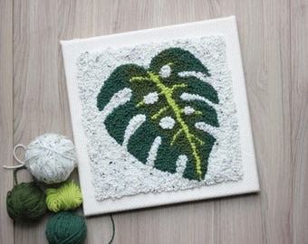The Punch Box - Monstera (Punch Needle KIT)