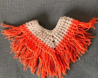 Crocheted  doll poncho.