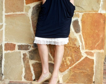 Skirt Slip Extender: Blush Tiered Ruffle