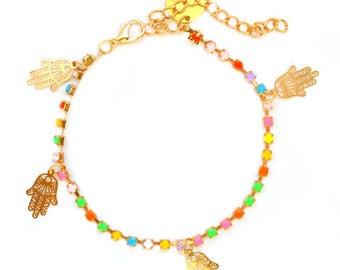 Colours Gold Hamsa Anklet