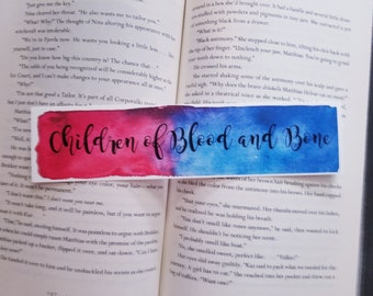Children of Blood and Bone Watercolor Bookmark, Young Adult Books