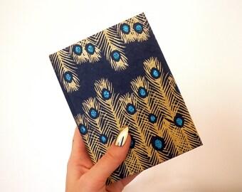 Handmade 'Feather' blank notebook journal