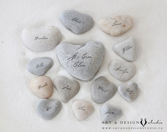 Names on Stone Print, Family Tree Alternative, Custom Couples Anniversary Gift, Keepsake Gifts, Gifts under 35, Heart Stone Print