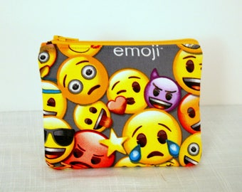 Emoji's Coin Bag Change Purse, Small Cosmetic Bag, Purse Accessorie, LOL Characters Coin Bag