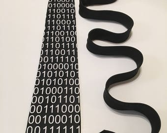 Binary Code, Computer Science Necktie