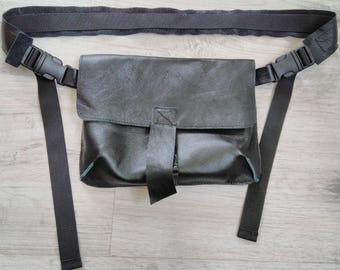 Fanny Pack, Leather women's belt bag, Leather Fanny Pack, Waist Bag, Belt Bag, Hip Bag, Black leather belt bag, Leather Waist Bag,Modern bag