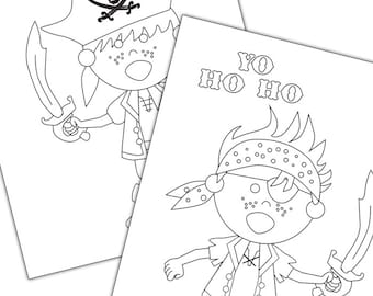 Pirate Colouring Pages - Pirate Party Printables