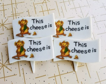Cheese Marker Set of Four Enesco 1976 Suzy's Zoo