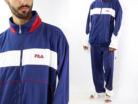 Fila Tracksuit Fila Track Suit Vintage Fila Jacket Vintage Track Pants Fila Windbreaker Vintage Track Jacket 90s Windbreaker 90s Fila Suit