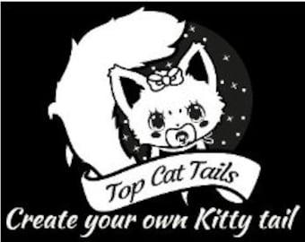 Create Your Own Cat Tail, Neko, kawaii, cosplay, pet play, fur play, custom kitty tail.