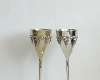 Silverplate Wine Goblets, Silverplate Champagne Goblets