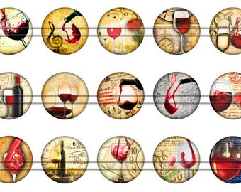 Wine Magnets, Wine Pins, Wine Tasting Pins, Fruit of the Vine, Wine Party Magnets, Wine Tasting Magnets, Fridge Magnets, Party Favors
