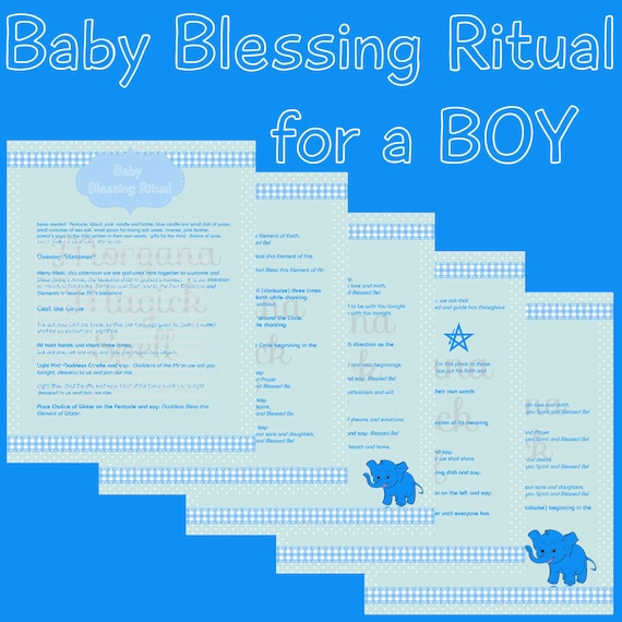 Baby Boy Blessing Wiccaning Ritual
