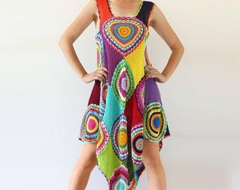 Women's Dress/Tunic , Light Silky Yarn - MADE TO ORDER