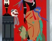 Romare Bearden Odysseus Circe Exhibition Poster