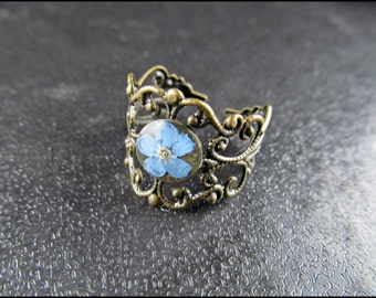 Forget-me-not flower ring