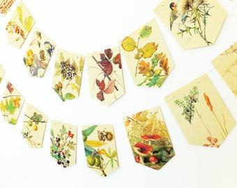 Autumn bunting, Autumn decorations, Fall Garland, Autumn decor, Fall wedding, Paper Buntin, Garland, Banner, Autumn Wedding, Natural wedding