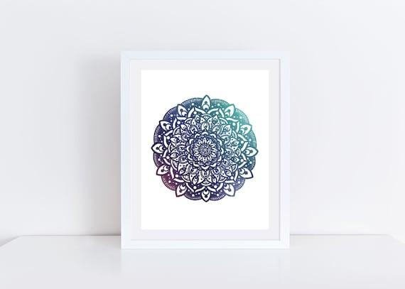 Galaxy Mandala Print