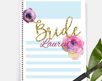 Bride Notebook | Custom Gift| Personalized Notebook | Brides Gift | Bridesmaid | Wedding | Wedding Gift | Bridal Shower Gift | Bridal Shower