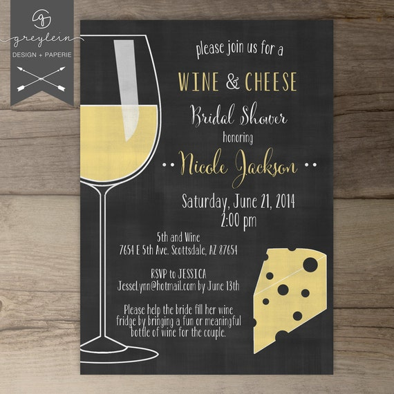 Wine And Cheese Invitations Chalkboard Dinner Party - Wine and cheese party invitation template free