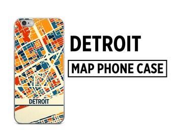 Detroit Map Phone Case - Detroit iPhone Case - iPhone 6 Case - iPhone 5 Case - iPhone 7 Case