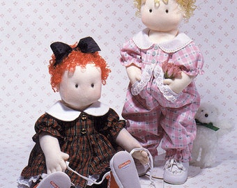 Gentle Rosie Easy to sew doll pattern with two cute outfits from CaroleeCreations