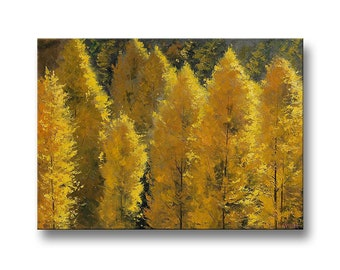 LARGE CANVAS ART Trees original oil painting  autumn leaves Painting