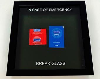 In Case Of Emergency Break Glass - Durex edition - Novelty Bedroom Gift