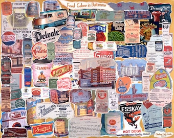 FOOD GALORE in BALTIMORE- Poster Size, Signed Print
