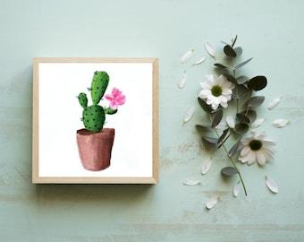 Tiny Art Prints, Succulent Prints, Cactus Art Print, Miniature Paintings, Tiny Cactus Art, Mini Succulents, Small Art, Small Paintings,