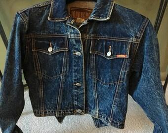 Jordache Dark Blue Denim Jacket Cropped