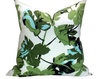 Fig Leaf pillow cover in Original on White - on BOTH Sides