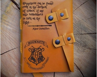 Leather Harry Potter notebook/Personalized Harry Potter journal/Harry Potter sketchbook/Leather A5 notebook