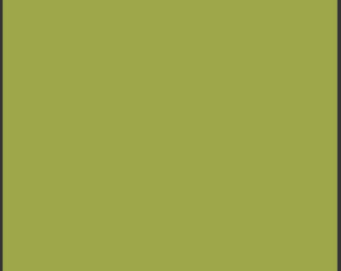 One Yard Dark Citron Green - Pure Elements Solid Cotton Quilt Fabric - from Art Gallery Fabrics - PE-414 (W490)