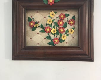Frame with mini flowers