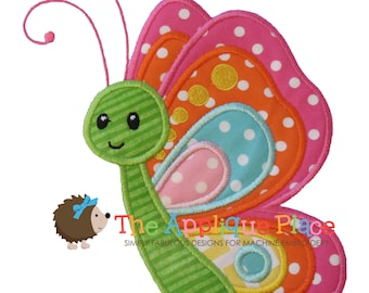 Butterfly Applique Design , Instant Digital Download File for Machine Embroidery , 4X4 5X7 6X10 in dst esp hus jef pes sew vip xxx