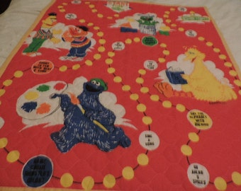 Sesame Street Game Baby or Toddler Quilt
